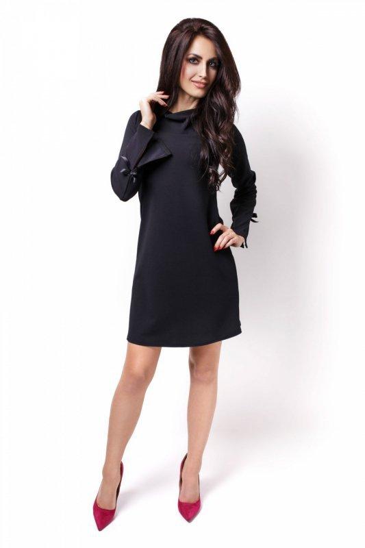 Trapezowa sukienka Natalie - Czarna - Ivon