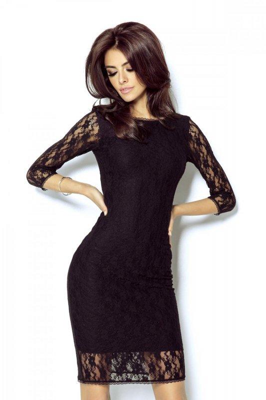 Koronkowa sukienka Karla - Czarna- Ivon