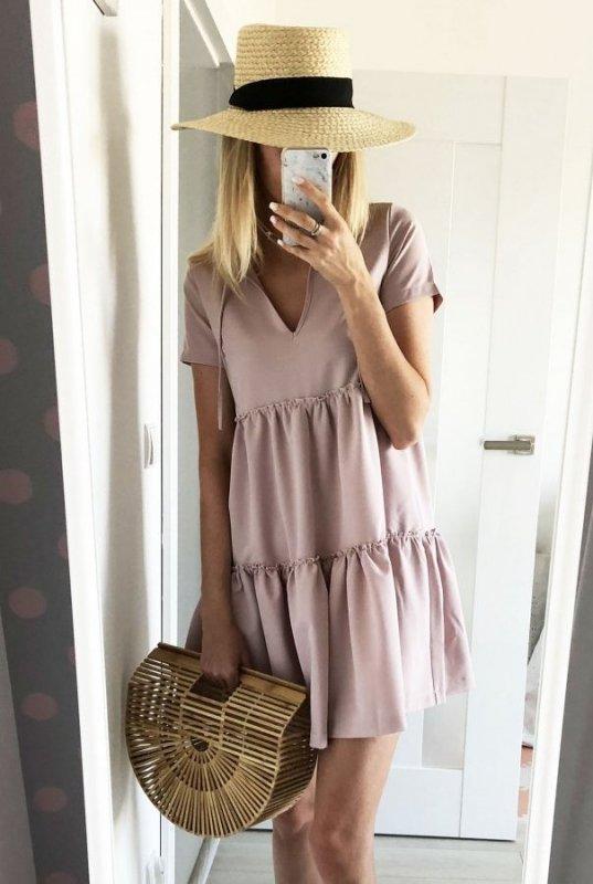 Sukienka Pola - Pudrowy Róż - Ivon
