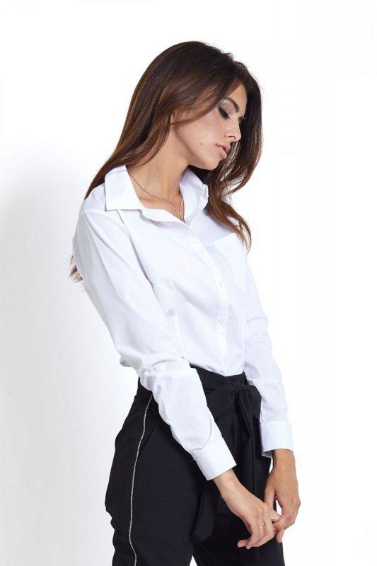Koszula z kieszonką Melanie - Biała - Ivon