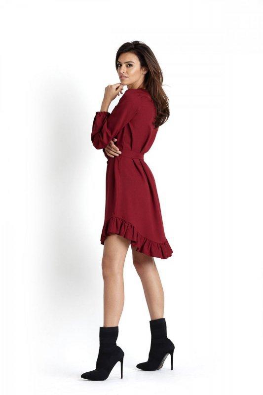 Sukienka w stylu boho Masha - Bordo - Ivon