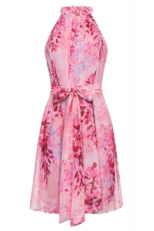 Szyfonowa sukienka Liv - Różówa - StreetStyle 727