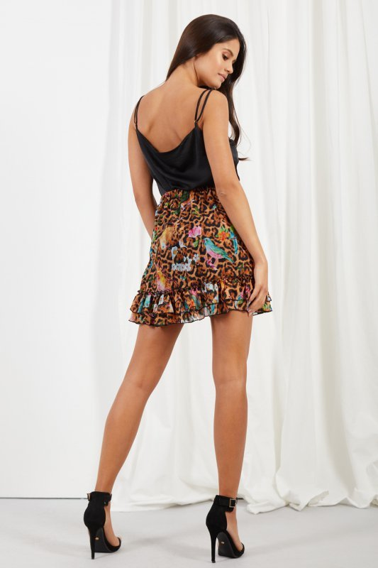 Krótka spódniczka z jedwabiem i falbanami -StreetStyle LG520 - druk 13
