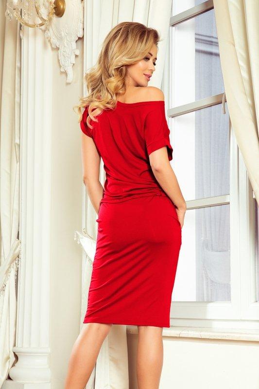 Sukienka sportowa z krótkim rękawkiem - Czerwona