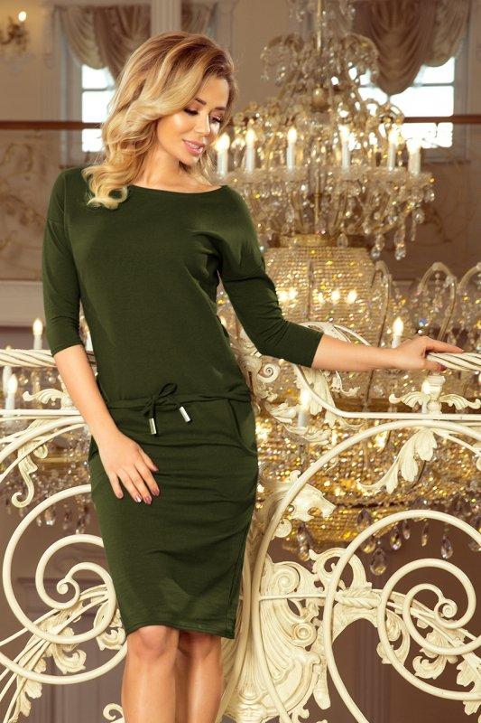 Sukienka sportowa - Bawełna  - Khaki