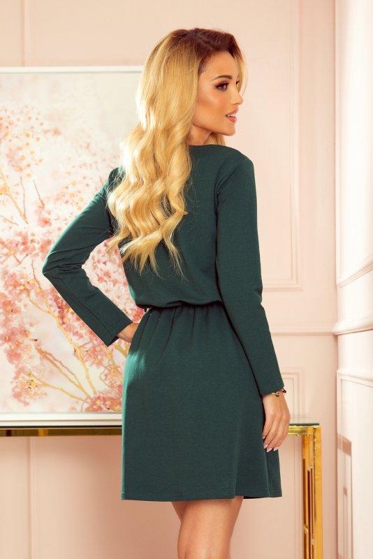 NANCY Sukienka z zamkiem - zieleń butelkowa -4