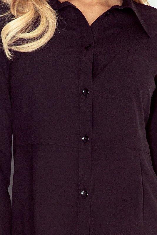 Koszula z baskinką - Czarna - numoco MM 016-3