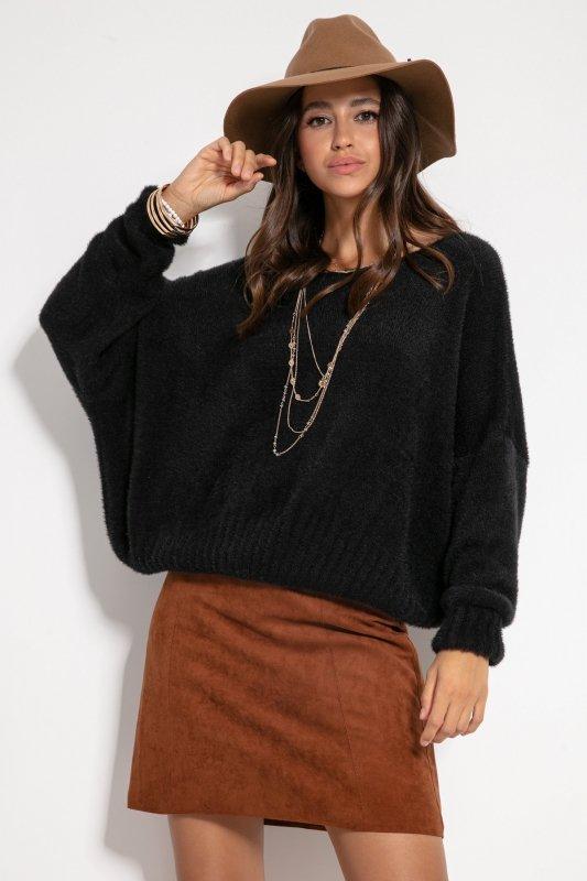 Sweter F1070- Czarny -1