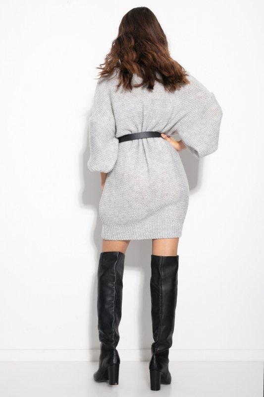 Dzianinowa sukienka-F1105-lilac-2