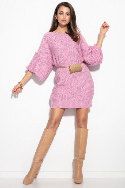 Dzianinowa sukienka-F1105-lilac-4