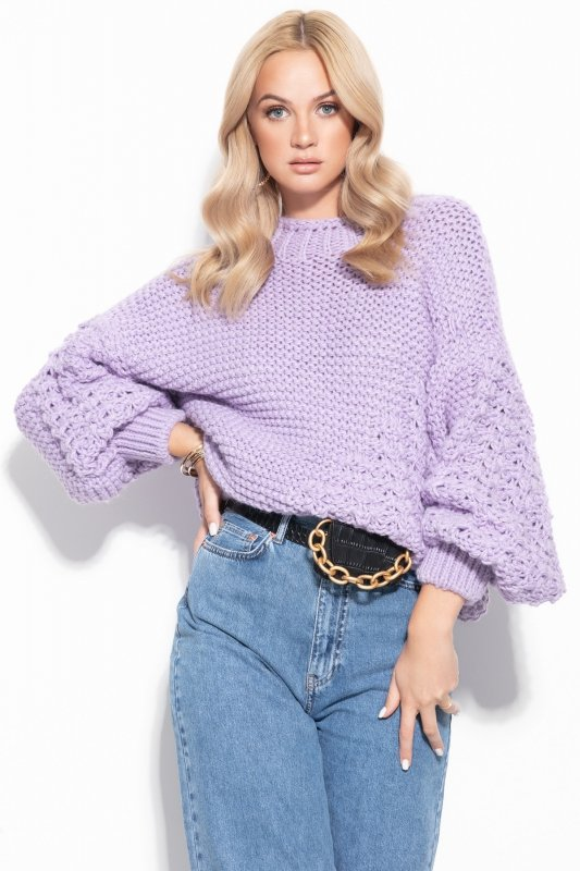 Sweter Chunky Knit F1125 - Fiolet -1
