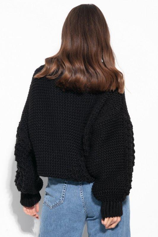 Sweter Chunky Knit F1125 - Czarny -3