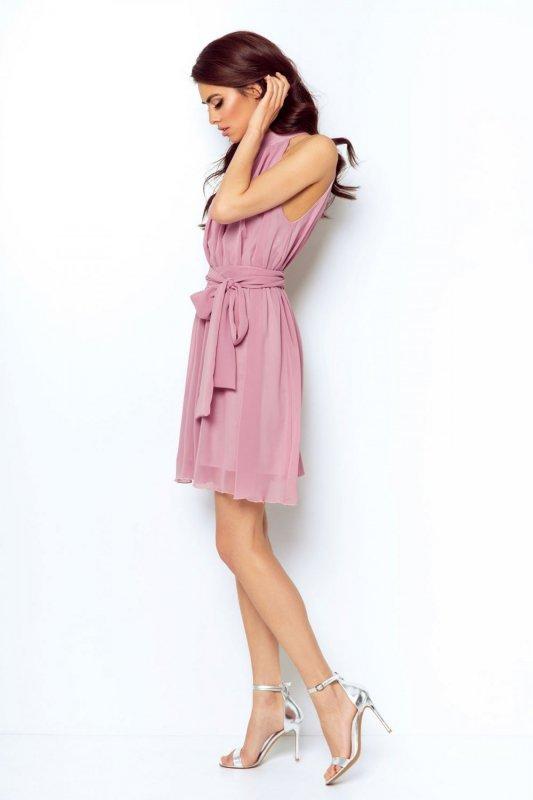 Szyfonowa sukienka Livia - Wrzos - StreetStyle 298