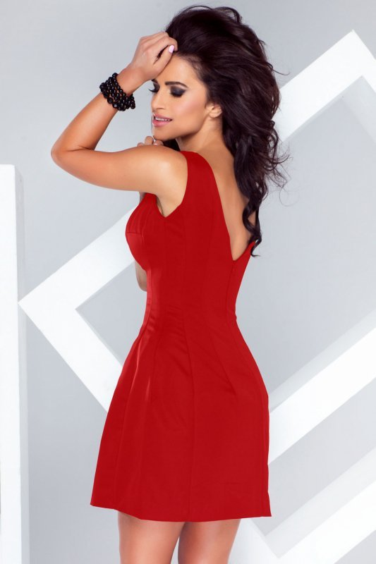 Sukienka Carmen - Czerwona - StreetStyle 37