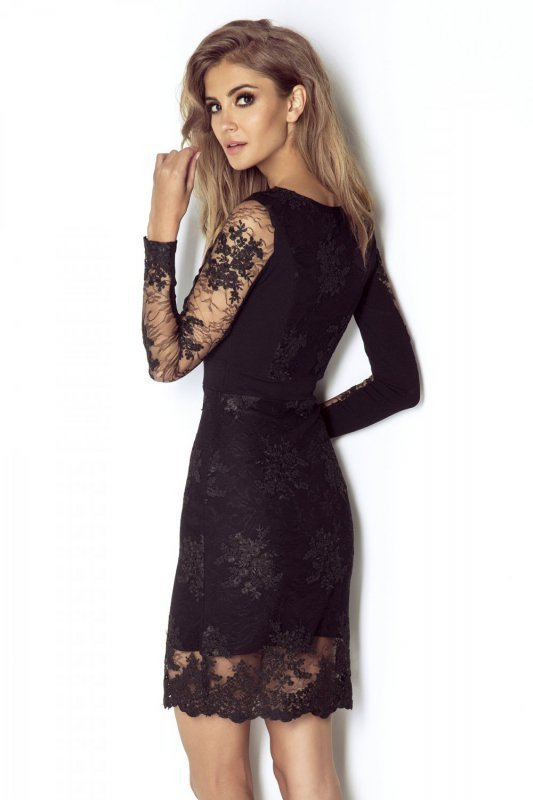 Koronkowa sukienka Paris - Czarna - Ivon