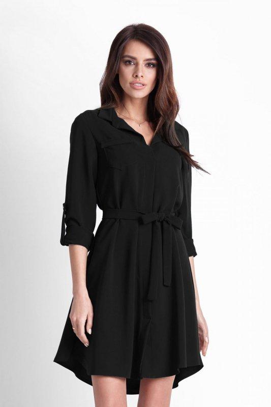 Sukienka koszulowa  Octavia - Czarna - StreetStyle  521