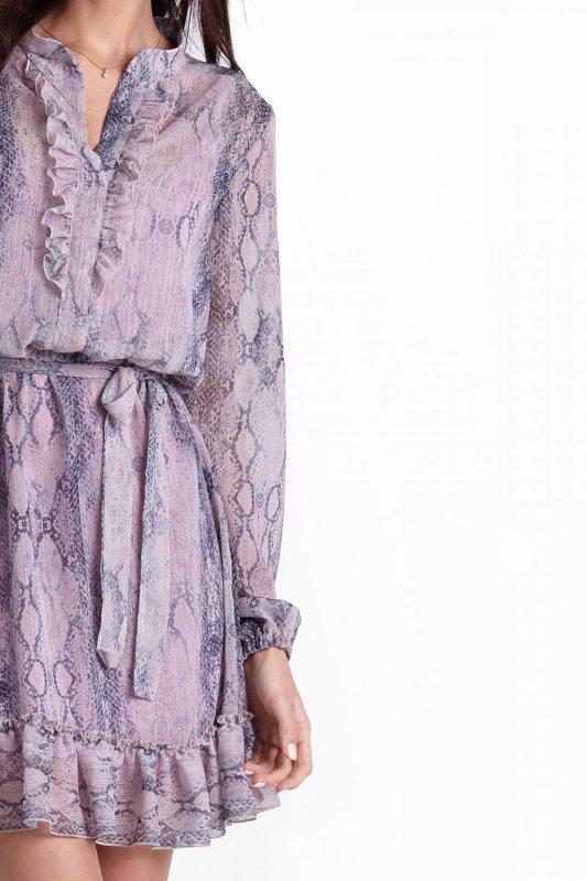 Zwiewna sukienka w stylu boho w wężowy wzór - Ivon