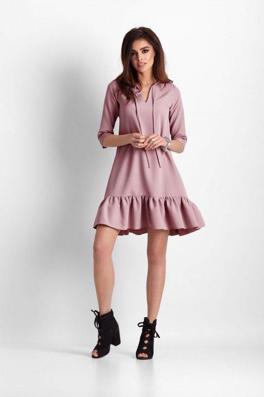 Elegancka sukienka Elvira - Różowa - Ivon