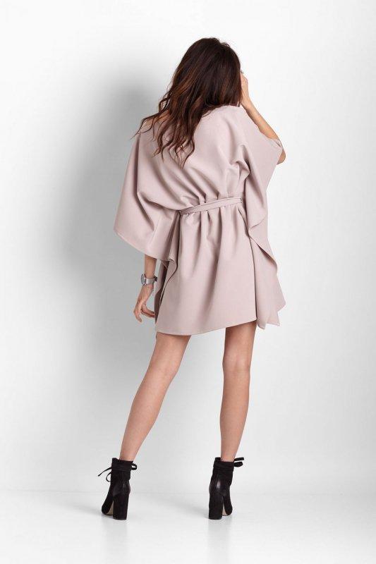 Kimonowa sukienka Lotta - Beżowa - Ivon