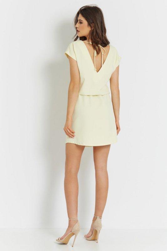 Luźna sukienka o prostym kroju Lena - Żółta