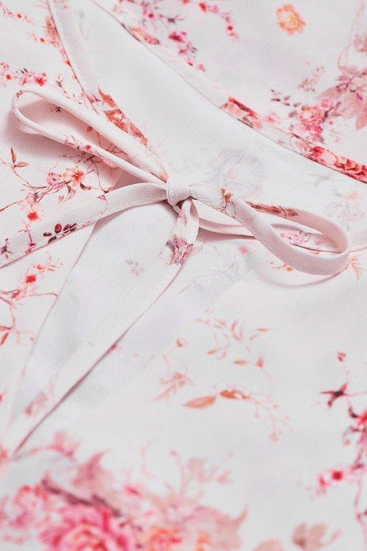 Sukienka  Chloe kwiatowy wzór - Biała