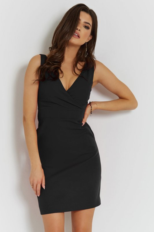 Klasyczna sukienka Paola - Czarna