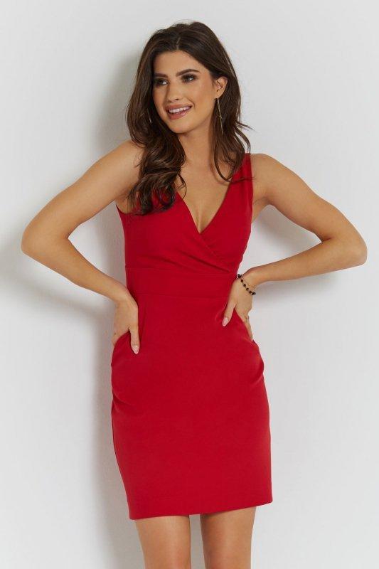 Klasyczna sukienka Paola - Czerwona