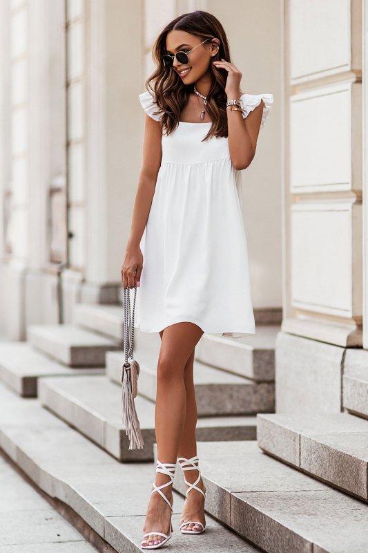 NOEL sukienka mini o lekko oversizowym kroju - Cream2
