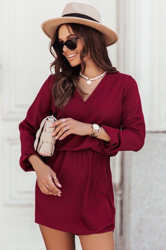 Sukienka CARLA - bordo