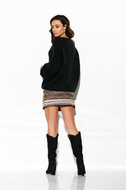 Sweter z dużym dekoltem - StreetStyle LSG111- czarny- 4