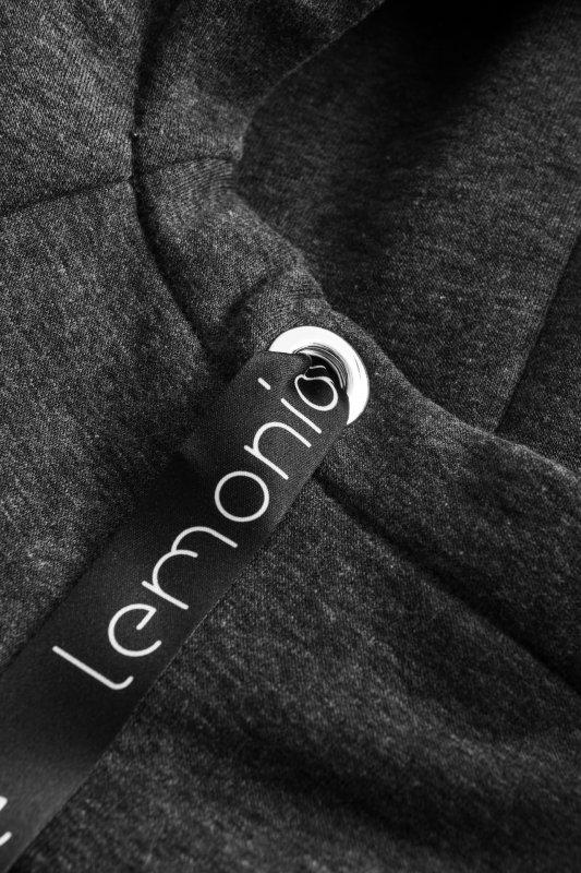 Bawełniana sukienka/bluza z falbaną LN119 - Grafit - 3
