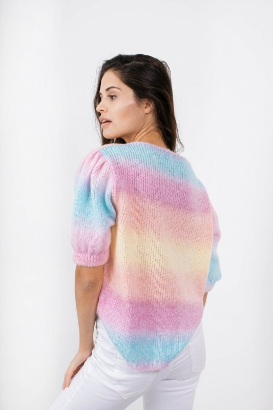 Pastelowy Sweter Tęcza - LS336 - 12