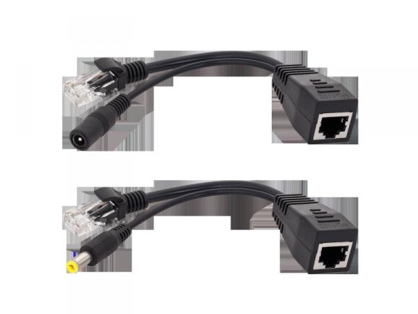 Adaptor PoE- zasilanie przez LAN dla AP, ROUTER czarny