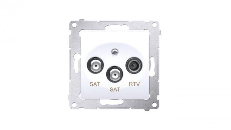 Simon 54 Gniazdo antenowe RTV/SAT/SAT końcowe białe DASK2.01/11