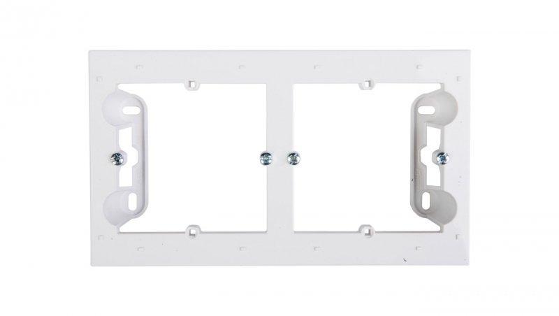 Kontakt Simon 54 Premium Puszka natynkowa podwójna płytka biała DPN2/11 WMDZ-2