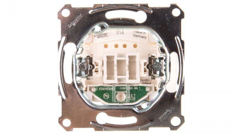 SCHNEIDER Merten Łącznik pojedynczy 10A 250V IP20 z podświetleniem MTN3131-0000