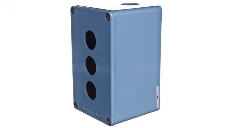Schneider Obudowa kasety 3-otworowa 22mm niebieska IP65 XAPM2503H29