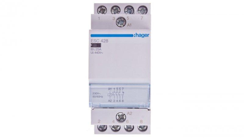 HAGER Stycznik modułowy 25A 3Z 1R 230V AC ESC428