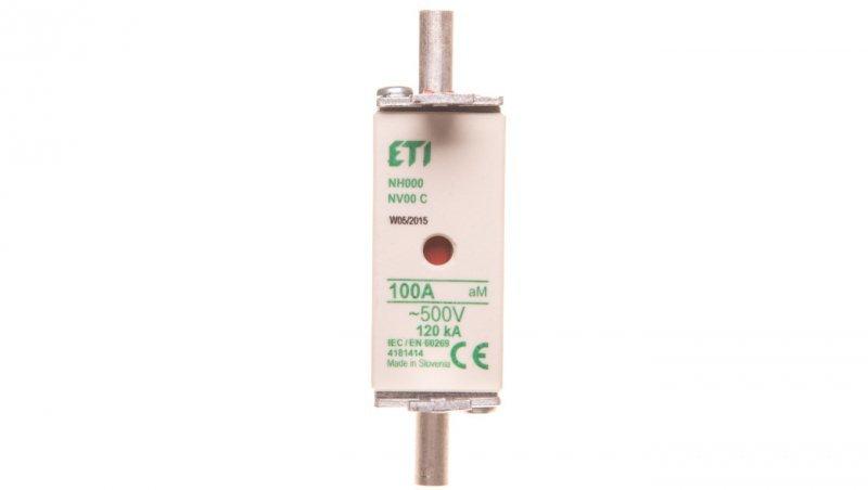 Wkładka bezpiecznikowa KOMBI NH00C 100A aM 500V WT-00C 004181414