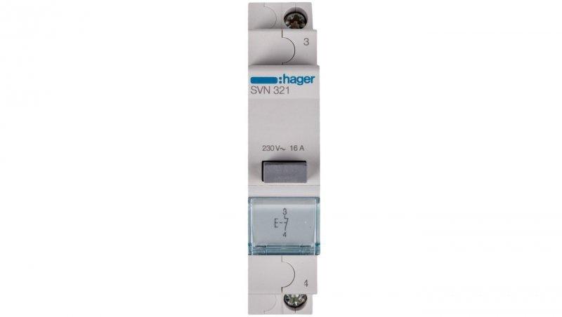 HAGER Przycisk modułowy 16A 1R SVN321