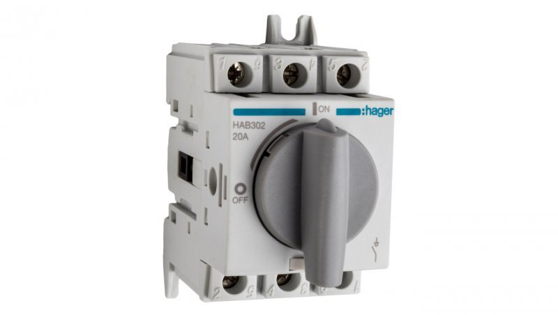 HAGER Rozłącznik izolacyjny 3P 20A HAB302