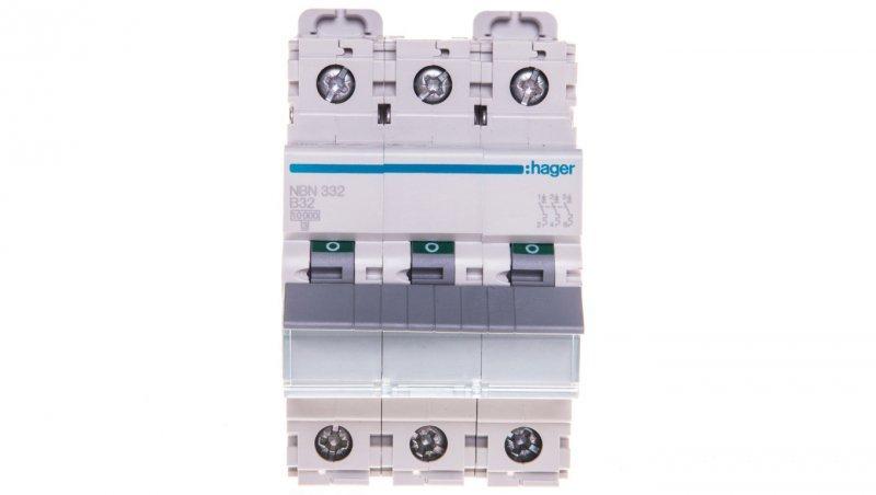 Wyłącznik nadprądowy 3P B 32A 10kA AC NBN332