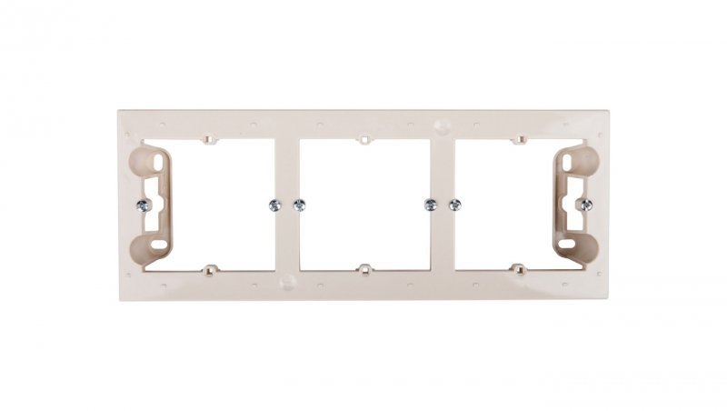 Simon 54 Premium Puszka natynkowa potrójna płytka kremowa DPN3/41