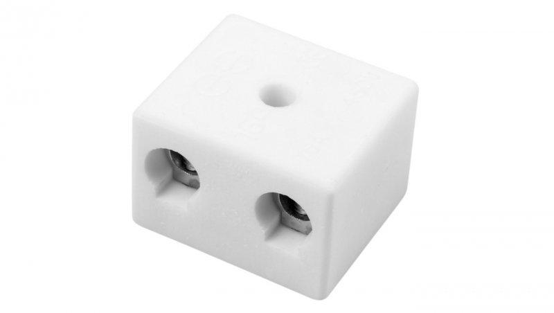 Złączka gwintowa porcelanowa 16mm2 2-tory biała CPO-30A-2P 80732516