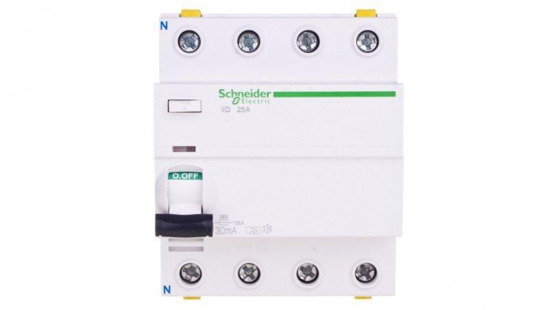 Wyłącznik różnicowoprądowy 4P 25A 0,03A typ A iID A9Z21425