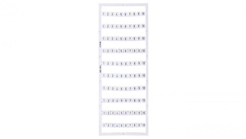 Oznaczniki Mini-WSB 10x 1-10 biały 248-502 /5szt./