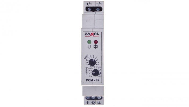 Przekaźnik czasowy 1P 16A 0,1sek-10dni 24V AC/DC PCM-02/24V EXT10000076