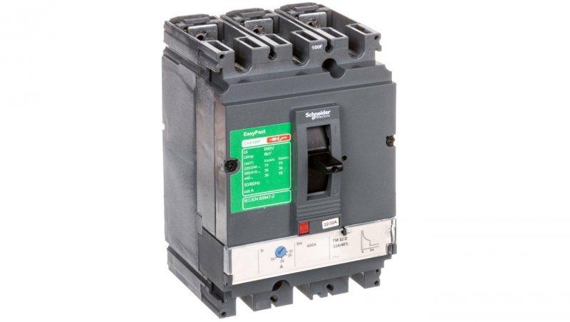 Wyłącznik mocy 32A 3P 36kA EasyPact CVS100 TM32D LV510332
