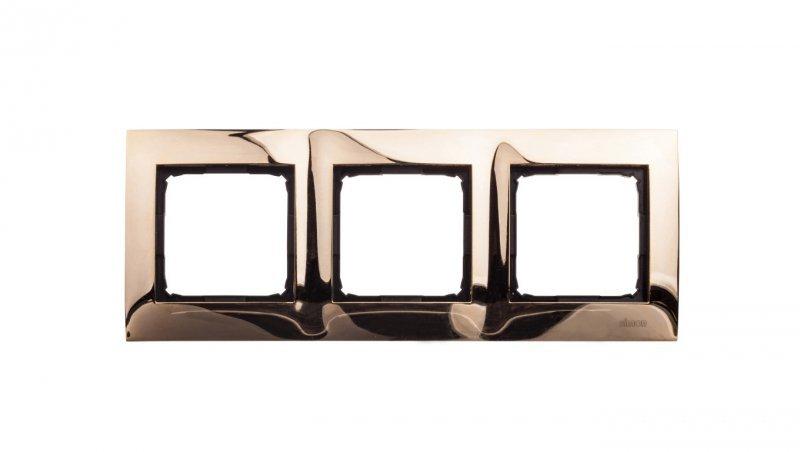 Simon 54 Premium Ramka potrójna metalowa złoto DR3/66