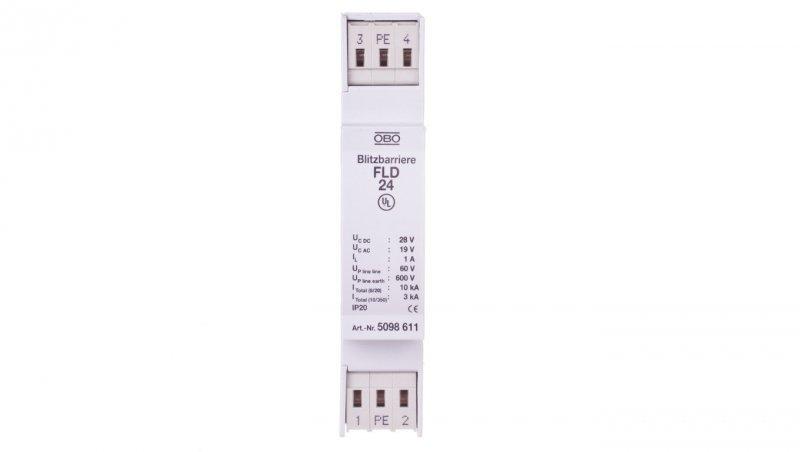 Ogranicznik przepięć dla systemów dwużyłowych 19VAC/28VDC 5kA 10kV FLD 24 5098611